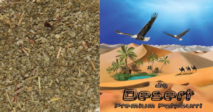 Inhalt der Räuchermischung Desert, geschnittene Kräuter.